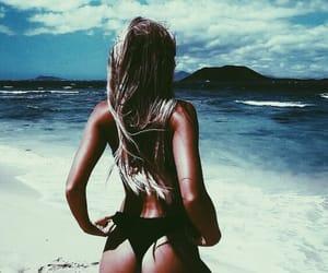 bikini, girl, and breeze image