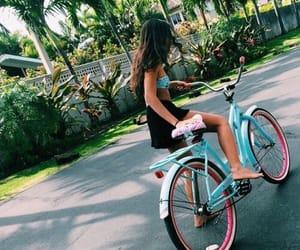 road, summer, and bike image