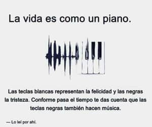 frases, piano, and vida image