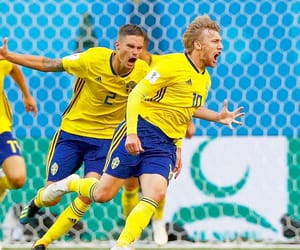 blue yellow, football, and soccer image