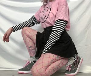 fashion, fishnet, and pink image