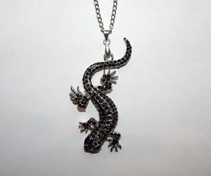 etsy, lizard jewelry, and lizard necklace image