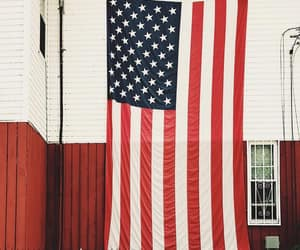 flag, red white and blue, and photography image