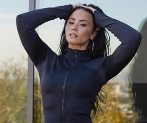 demi lovato, fabletics, and beauty image