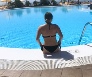 bikini, pool girl, and canary islands image