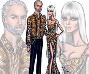 Donatella Versace, fashion illustration, and hayden williams image