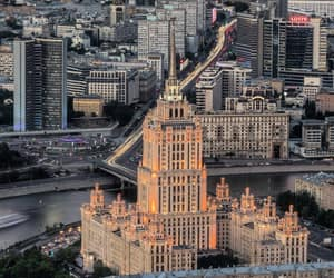 city, light, and russia image
