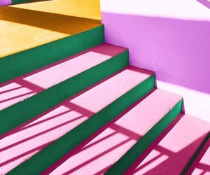 colorful, pink, and staircase image