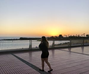 beach, sunset, and canary islands image