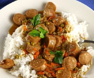 casserole, sausages, and recipes image