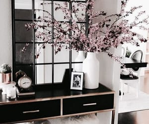 interior, decor, and flowers image