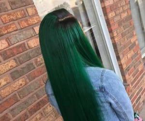 green, hair, and long image