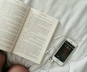 book, music, and read image