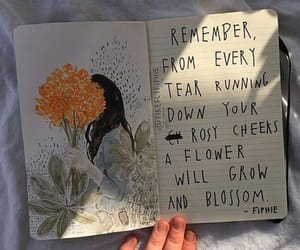 flowers, art, and journal image