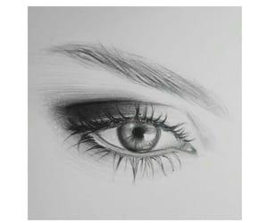 art, b&w, and drawing image