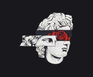 wallpaper, rose, and art image