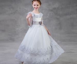lace, silver dress, and tulle image