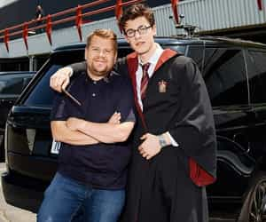shawn mendes, james corden, and harry potter image