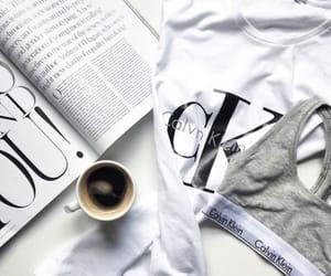 Calvin Klein, coffee, and white image