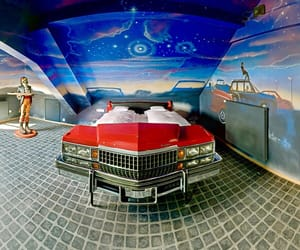 bed, caddy, and car image