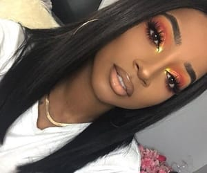 earrings, eyebrows, and eyelashes image