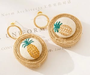 earrings, rattanearrings, and fashion image