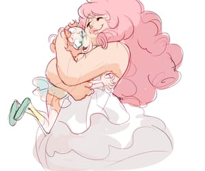 pearl, rose quartz, and steven universe image