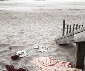 beach, lingerie, and shoes image