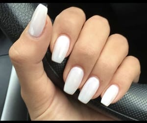 nails, white nails, and white image