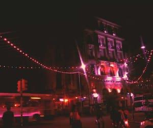 city, street, and lights image