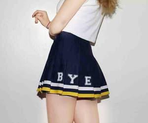 bye, skirt, and grunge image