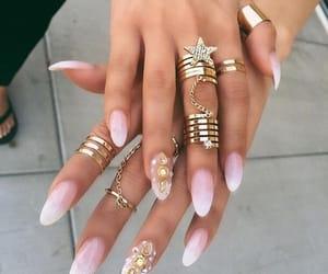 nails, rings, and girly image