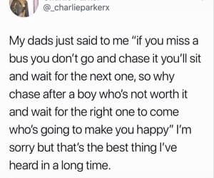 boy, advice, and dad image