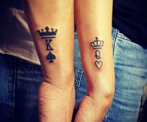 tattoo, couple, and love image