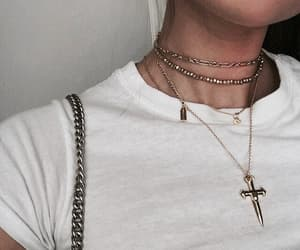 cool, girl, and necklace image