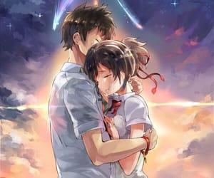 anime, couple, and your name image