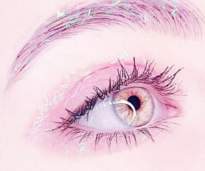 eye, eyes, and pink image