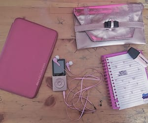 mp3, pink, and rose image