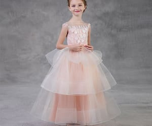 beautiful dress, little girl dress, and tulle image