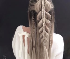 braid, beautiful, and girl image
