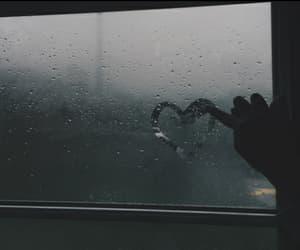 heart, rain, and grunge image