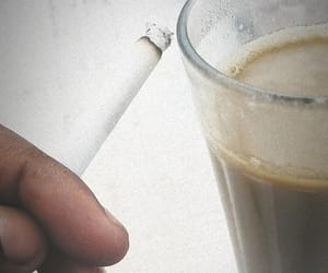 cigarette, smoking, and chai image