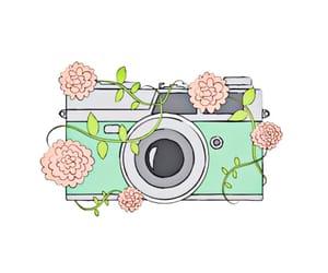 beautiful, camera, and drawing image