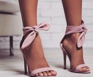 footwear, heels, and pink image