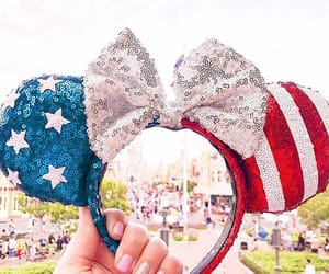 america, disney, and independence image