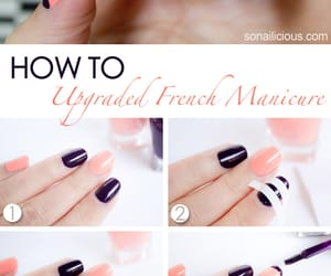 manicure, nails, and tutorial image