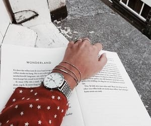book, red, and reading image