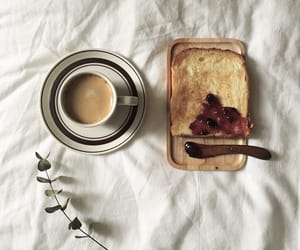 bread, breakfast, and caffeine image