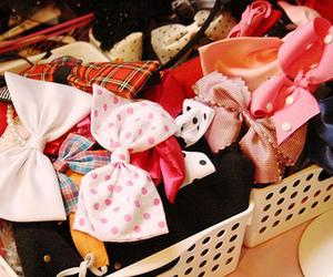 bow, cute, and ribbon image