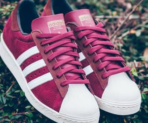 adidas, shoes, and red image